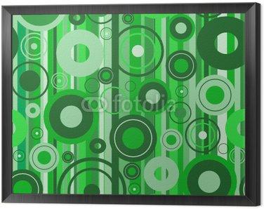 Obraz w Ramie Stylowe zielone tło. Ilustracji wektorowych