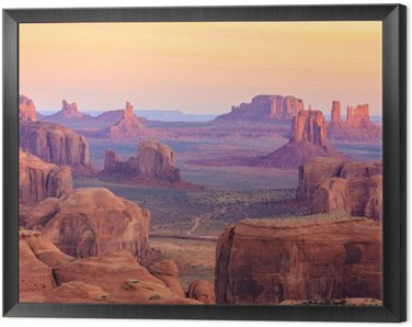 Obraz w Ramie Sunrise w Hunts Mesa w Monument Valley, Arizona, USA