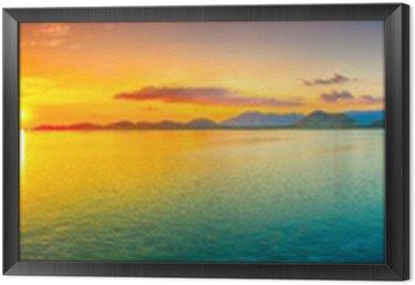 Obraz w Ramie Sunset Panorama