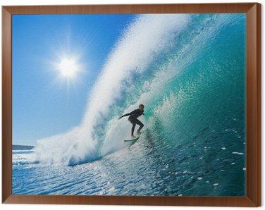 Obraz w Ramie Surfer na fali Błękitny ocean
