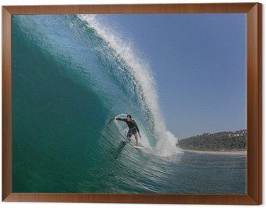 Obraz w Ramie Surfowanie metrem dużą falę