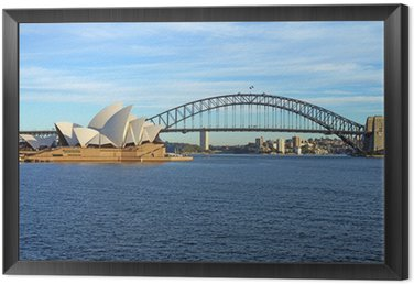 Obraz w Ramie Sydney Harbour Bridge i Opera House