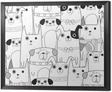 Obraz w Ramie Szwu Dogs