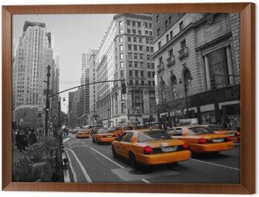 Obraz w Ramie Taksówki na Manhattanie