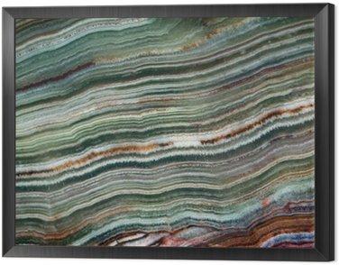 Obraz w Ramie Tekstura kamieni szlachetnych onyks