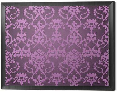 Obraz w Ramie Tissus fioletowy