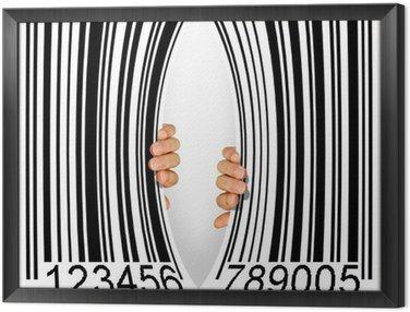 Obraz w Ramie Torn Bar Code