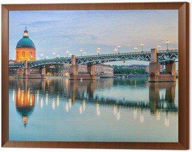 Obraz w Ramie Toulouse - Szpital La Grave i Pont Saint-Pierre