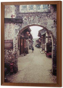 Obraz w Ramie Tradycyjny chiński village street view