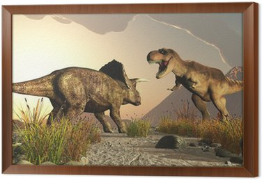 Triceratops i tyrex Tyrannosaurus rex