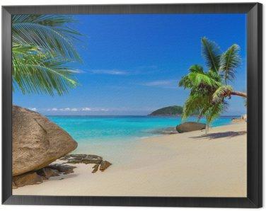 Obraz w Ramie Tropikalna plaża dekoracje w Tajlandii