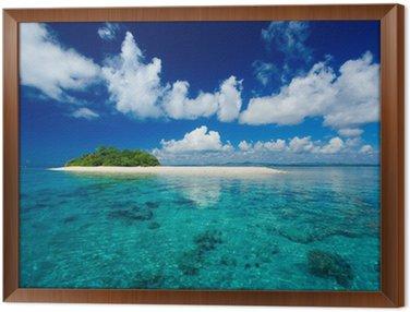 Obraz w Ramie Tropikalna wyspa raj wakacje