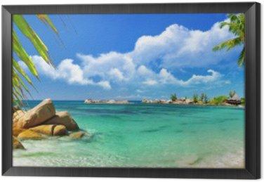 Obraz w Ramie Tropikalny raj - Seszele wyspy