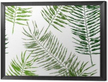 Obraz w Ramie Tropikalnych liści bez szwu