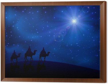 Obraz w Ramie Trzech mędrców i gwiazda