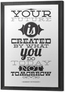 Twoja przyszłość jest tworzona przez to, co robisz nie dziś jutro