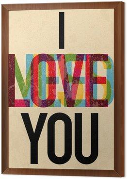 Obraz w Ramie Typ dnia kaligraficzne Walentynki tekstu