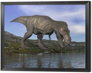 Obraz w Ramie Tyrannosaurus Rex dinozaura - 3d render