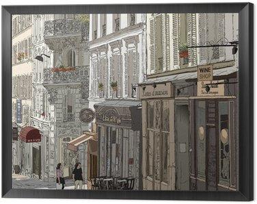 Obraz w Ramie Ulica w Montmartre