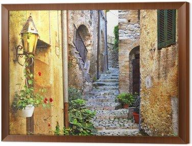 Obraz w Ramie Urocze stare uliczki śródziemnego