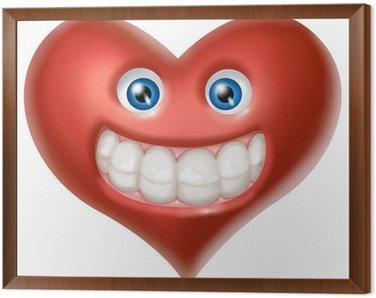 Obraz w Ramie Uśmiech serce