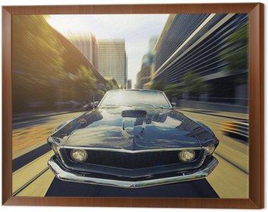 Obraz w Ramie Vintage Cabriolet