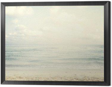 Obraz w Ramie Vintage tropikalnej plaży w lecie