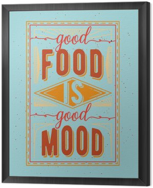 Obraz w Ramie Vintage żywności związane typograficzny cytat