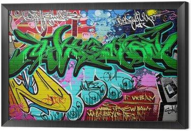 Obraz w Ramie Wektor tła sztuki grafitti. mur miejski