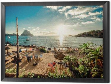 Obraz w Ramie Widok z plaży Cala d'Hort, Ibiza