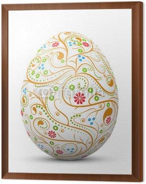 Obraz w Ramie Wielkanoc jajko, symbol, wzór, nie wirować, streszczenie, 3D malowane,