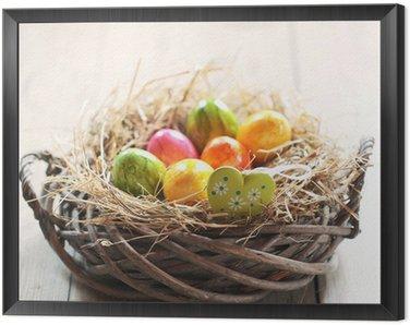 Obraz w Ramie Wielkanocny koszyk z Serca