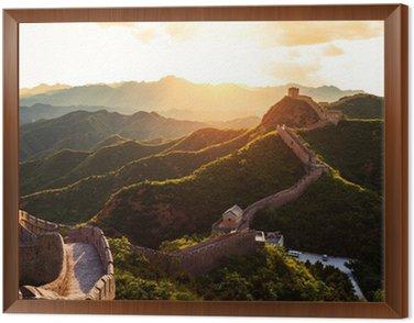 Obraz w Ramie Wielki Mur pod słońcem podczas zachodu słońca