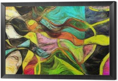 Obraz w Ramie Wirujące kształty, kolor i linie