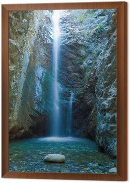 Obraz w Ramie Wodospady Chantara w górach, Cypr Trodos
