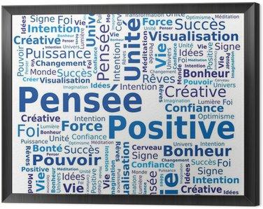 Obraz w Ramie Word cloud - pozytywne myślenie w języku francuskim