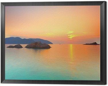 Obraz w Ramie Wschód słońca