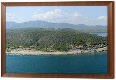 Obraz w Ramie Wybrzeże Santiago de Cuba z wejściem do portu