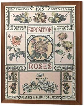 Obraz w Ramie Wystawa Róż