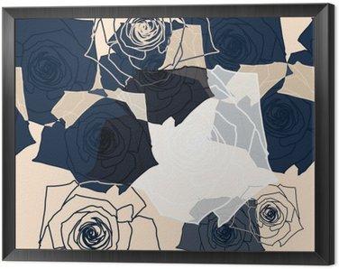 Obraz w Ramie Wzór kwiatowy powtarzalny, EPS 10