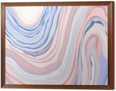 Obraz w Ramie Wzór marmuru - Streszczenie tekstury z miękkimi pastelami Colors 2016