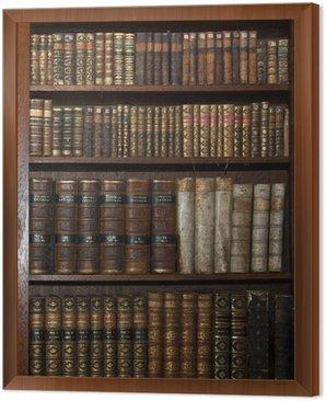 Obraz w Ramie Zabytkowe stare książki w starej biblioteki półki