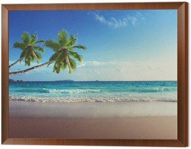 Obraz w Ramie Zachód słońca na plaży Seszele