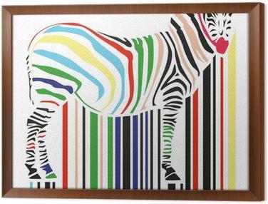 Obraz w Ramie Zebra