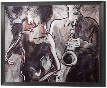 Obraz w Ramie Zespół jazzowy z tancerzami