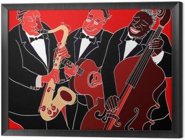 Obraz w Ramie Zespół jazzowy