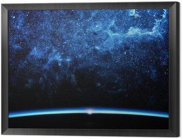 Obraz w Ramie Ziemia i galaxy
