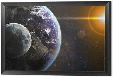 Obraz w Ramie Ziemia w przestrzeni. Elementy tego zdjęcia dostarczone przez NASA