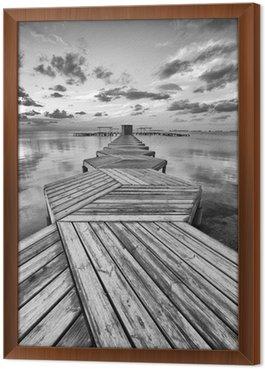 Obraz w Ramie Zig Zag dock w czerni i bieli