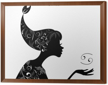 Obraz w Ramie Znak zodiaku Rak znak. dziewczyna mody